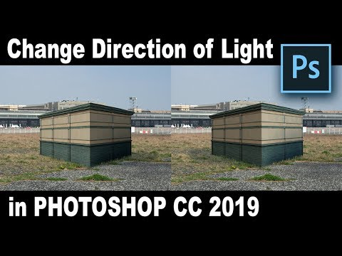 How To QUICK And EASY Change The Direction Of Light In PHOTOSHOP CC 2019