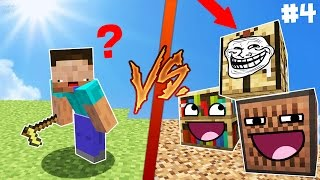NOOB VS BLOQUES DE MINECRAFT 😂 | MINECRAFT TROLL - HIDE AND SEEK #4