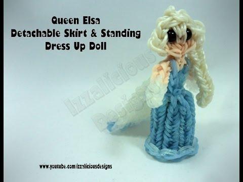 Rainbow Loom Queen Elsa Charm | Princess Action Figure - Detachable Skirt  - Gomitas