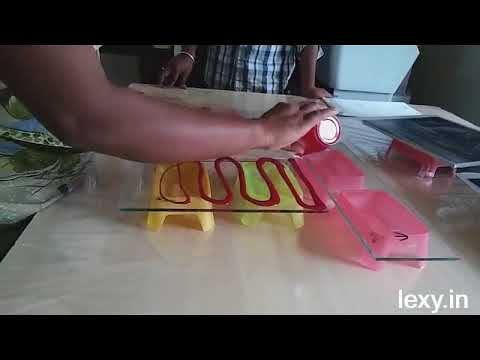 Digital Glass Etching with Color Processing