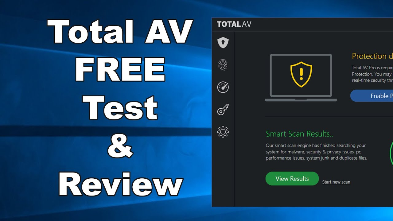 A Total Scam Total Av Free Antivirus Test Review 2019 Antivirus Security Review Youtube