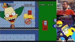 VIRTUAL BART (Megadrive / SNES) - Gameplay en Español || MORRALLA CLÁSICA