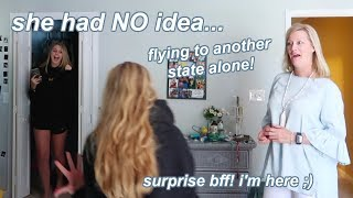 FLYING to surprise my internet best friends *they had NO idea*