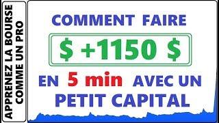 COMMENT FAIRE DE L'ARGENT RAPIDEMENT? 1150$ EN 5 MINUTES AVEC LES PENNY STOCKS. LA BOURSE OVERNIGHT