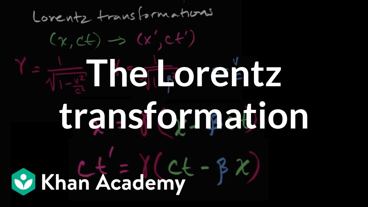 Introduction to the Lorentz transformation | Special relativity | Physics | Khan Academy