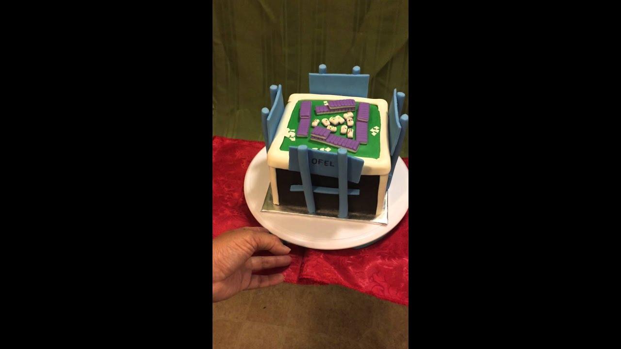 Mahjong Table Cake Youtube