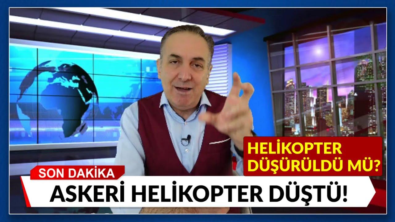 Tatvan'da 'düşen' helikopter düştü mü? Düşürüldü mü?