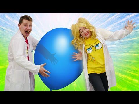 Научное шоу и опыты дома - У Блондинки Электрическое Поле? – Обучающее видео Урок Физики онлайн