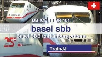 Basel SBB Switzerland | ICE Hamburg-Altona | Train Station - Bahnhof | ICE 1 - BR 401