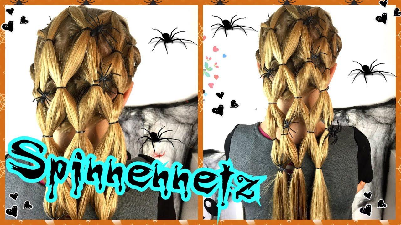 👻 Coole Spinnennetz Frisur Für 🎃Halloween🎃 Kostüm Spinne👻Hexe