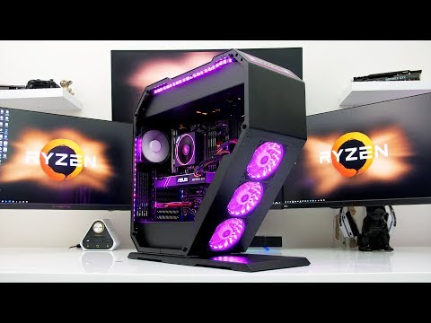 YOU'VE NEVER SEEN A PC LIKE THIS - StormForce Geo Ryzen 1800x 1080 TI Build.