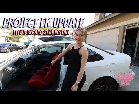 Project EK: Type R Recaro seat install