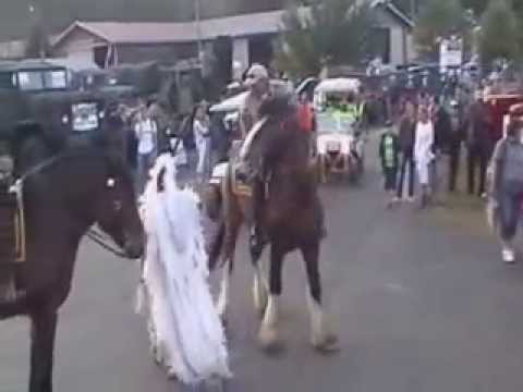 Native American Dancing with the Mounted Horse Patrol