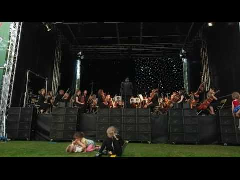 Jurassic Park by Sheffield Philharmonic Orchestra. Music in the Gardens 2017