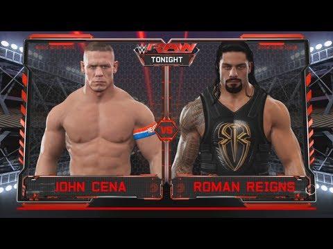 John Cena vs Roman Reigns  – Dream match – Raw-WWE-2K17-Gameplay