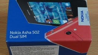 Nokia Asha 502 Dual Sim - Unboxing and First Start