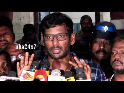 Is Tamilrockers & TamilGun Admin arrested? :Actor Vishal Speech on Piracy | Thupparivalan | nba 24x7