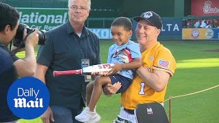 Steve Scalise gets ready for the Congressional baseball game - Daily Mail