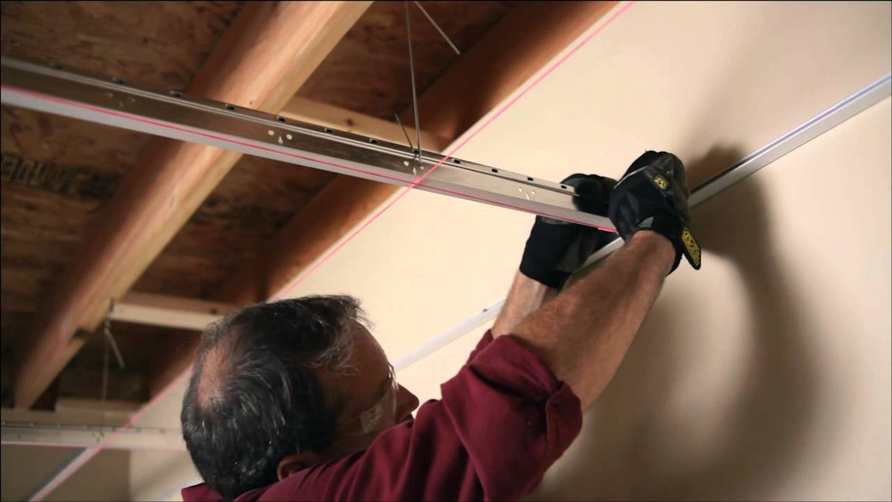 Installing Your Usg Ceiling Grid And Tile Youtube