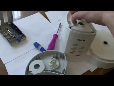 Ремонт переключателя и замена ремня  комбайна Bosch MCM2200