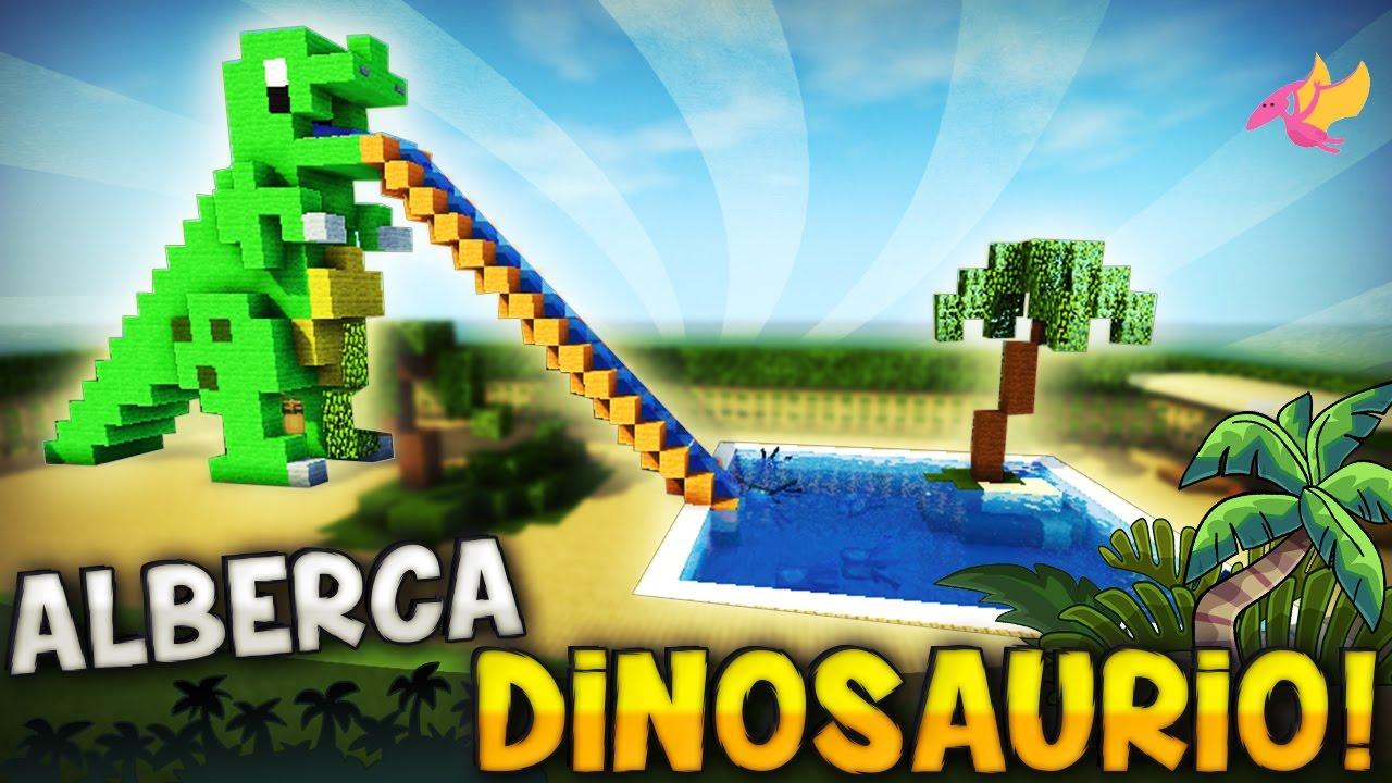 Minecraft como hacer una alberca con un pico dinosaurio for Quiero hacer una piscina en mi casa
