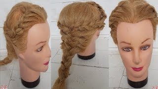 причёски в школу Плетение три косички Техника прически обучение в Петергоф фонтаны