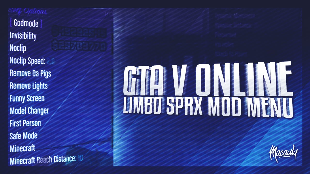 GTA 5 Online - Limbo SPRX Mod Menu + Download by Reblunted