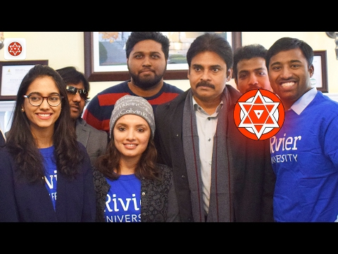 Pawan Kalyan Interacts With Students @ Rivier University Nashua