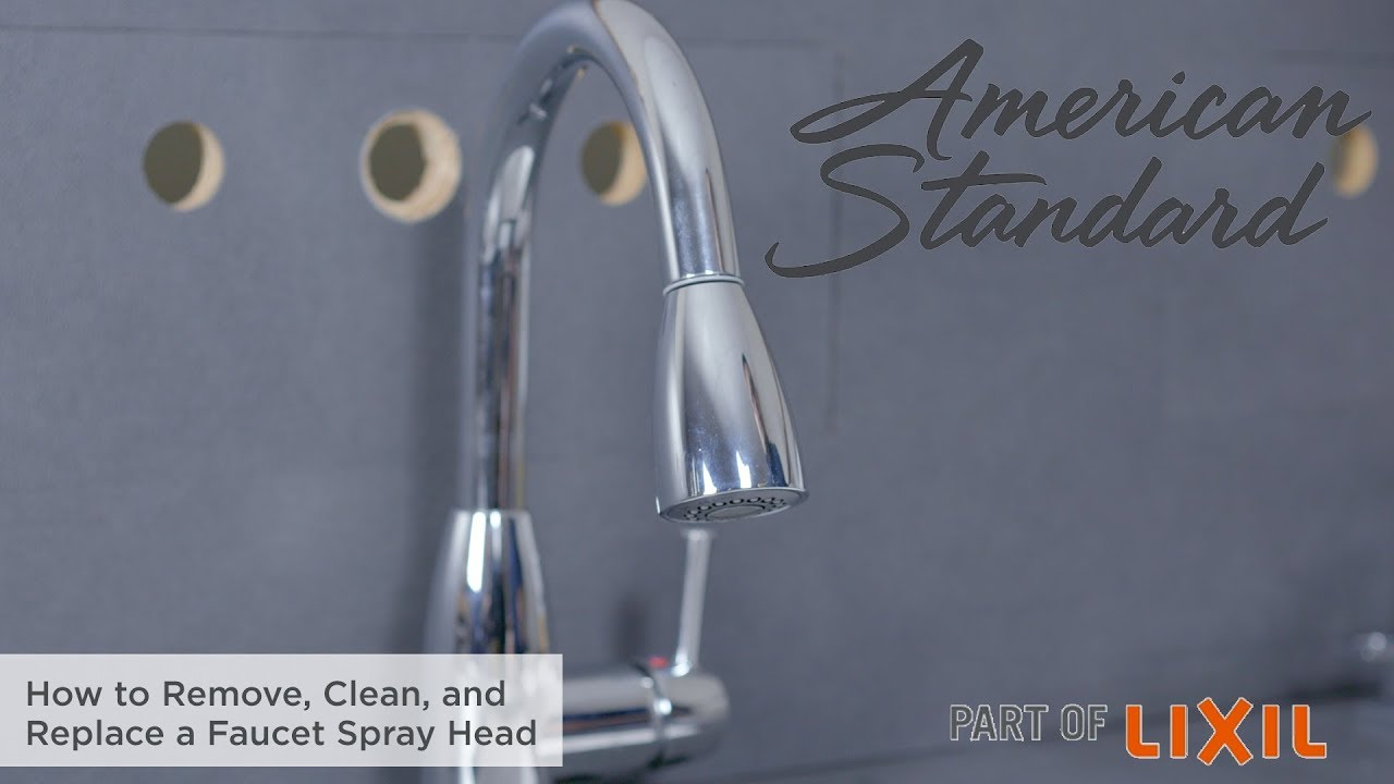 how to remove clean and replace a faucet spray head