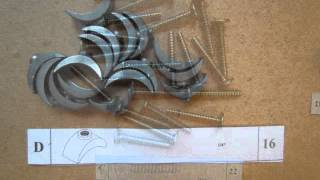 """the Boomerang"" -ranch Style Twin Over Twin Bunk Bed Hardware Parts List.wmv"