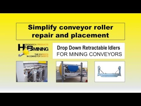 Drop Down Retractable Idlers Simplify Conveyor Roller Replacement & Repair