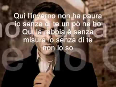 PERDONO tiziano ferro lyric  (official video)
