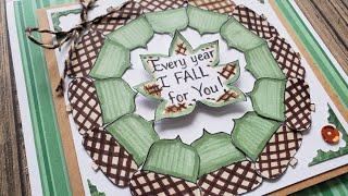Fall Card Idea | Acorn Wreath | Mindless Crafting Stamps