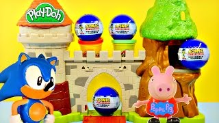 play doh sonic the hedgehog surprise eggs peppa pig flying olaf disney frozen by dctc