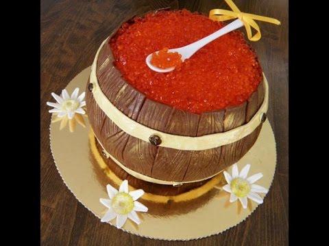 Красная икра на торт мастер класс