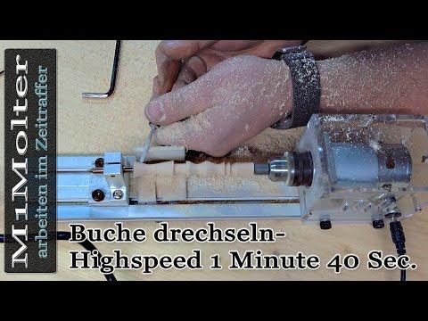 Ein Objekt aus Buche drechseln -  Highspeed 1 Minute 40 Sec  von M1Molter