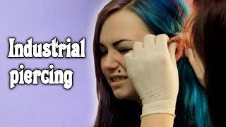 Индастриал ПРОКОЛ ▌ Больно или нет? ▌ Industrial piercing