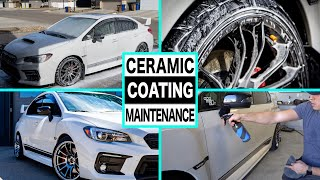 HOW TO MAINTAIN A CERAMIC COATING | Full Exterior Detail of a WRX!