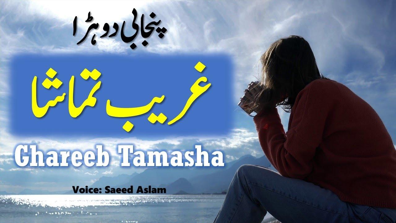 Punjabi Poetry Ghareeb Tamasha Ay By Saeed Aslam | New Punjabi Poetry Whatsapp Status videos