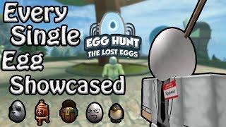 Every Egg Showcased/All Eggs - ROBLOX Egg Hunt Guide 2017