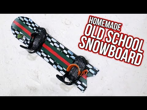 HOMEMADE POWDER/OLD SCHOOL SNOWBOARD!