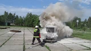 Испытания порошкового огнетушителя Оп-5_очаг 3А(Полигонные испытания порошкового огнетушителя ОП-5 с зарядом огнтушащего порошка П-2АПМ по подтверждению..., 2011-12-23T14:10:30.000Z)
