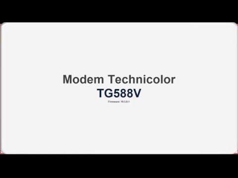 Modem Technicolor TG588V modo Puente - YouTube