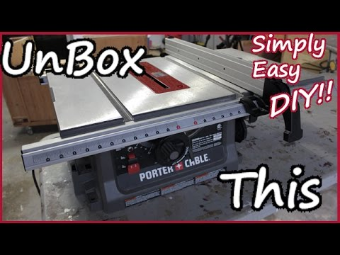 Porter cable jobsite table saw unboxing setup pcb222ts youtube porter cable jobsite table saw unboxing setup pcb222ts greentooth Choice Image