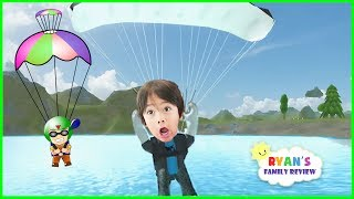 ROBLOX Skydiving Simulator! Let's Play Roblox con famiglia recensione di Ryan