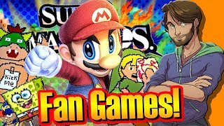 WEIRD Super Smash Bros. FAN-GAMES! - SpaceHamster Video