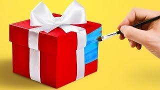 як зробити подарункову коробку на новий рік