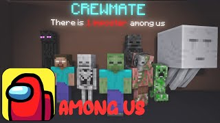 MONSTER SCHOOL PLAYING AMONG US HORROR CHALLENGE - Minecraft Animation