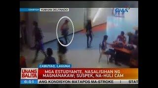 UB: Mga estudyante, nasalisihan ng magnanakaw; suspek, na-huli cam