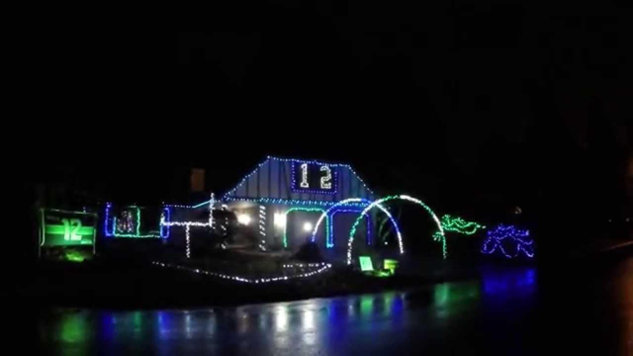 Seahawks Christmas Lights.Christmas Light Show Seahawks Edition Mill Creek Wa 12 18 2014